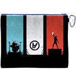 Twenty One 21 Pilots Canvas Cosmetic Bag (XXXL) Back
