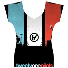 Twenty One 21 Pilots Women s V-Neck Cap Sleeve Top