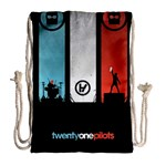 Twenty One 21 Pilots Drawstring Bag (Large) Back