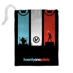 Twenty One 21 Pilots Drawstring Pouches (Extra Large) Back