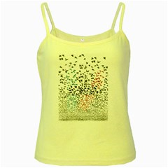 Twenty One Pilots Birds Yellow Spaghetti Tank