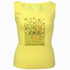 Twenty One Pilots Birds Women s Yellow Tank Top