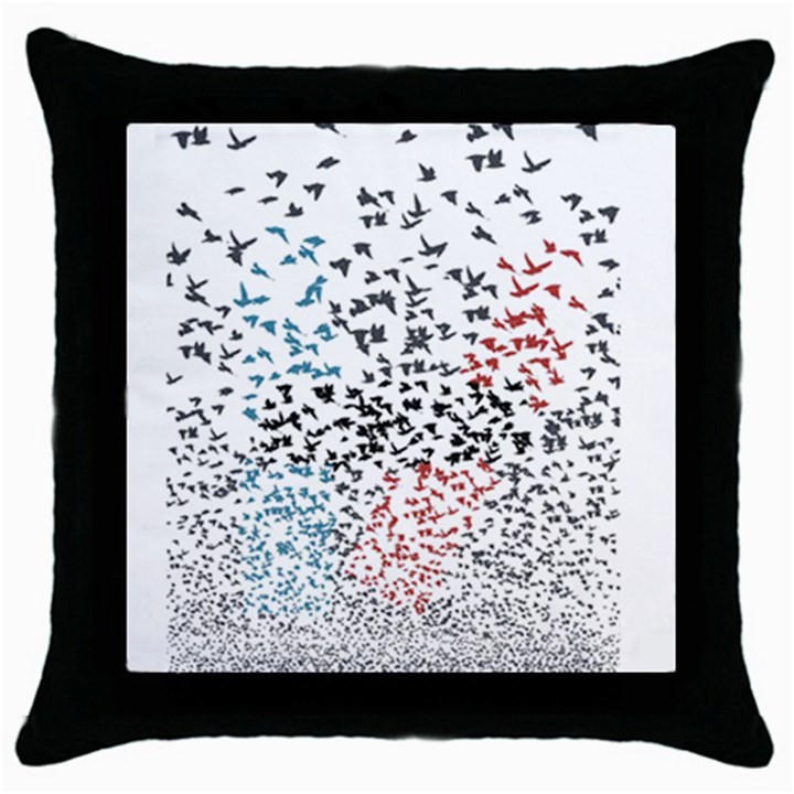 Twenty One Pilots Birds Throw Pillow Case (Black)