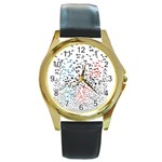 Twenty One Pilots Birds Round Gold Metal Watch Front