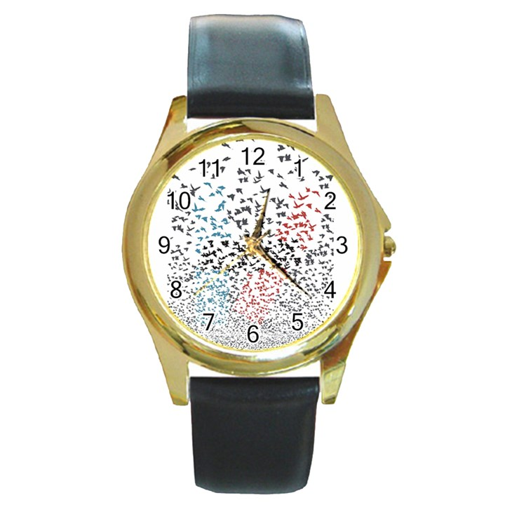 Twenty One Pilots Birds Round Gold Metal Watch