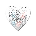 Twenty One Pilots Birds Heart Magnet Front