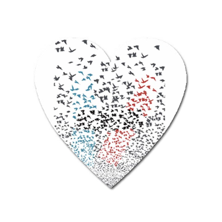 Twenty One Pilots Birds Heart Magnet