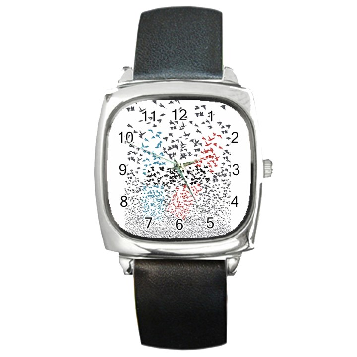 Twenty One Pilots Birds Square Metal Watch