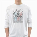 Twenty One Pilots Birds White Long Sleeve T-Shirts Front