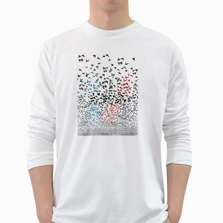 Twenty One Pilots Birds White Long Sleeve T-Shirts