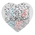 Twenty One Pilots Birds Heart Ornament (2 Sides) Front