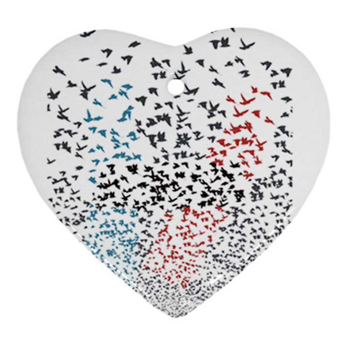 Twenty One Pilots Birds Heart Ornament (2 Sides)