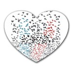 Twenty One Pilots Birds Heart Mousepads Front