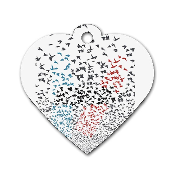 Twenty One Pilots Birds Dog Tag Heart (One Side)