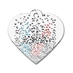 Twenty One Pilots Birds Dog Tag Heart (Two Sides) Back