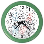 Twenty One Pilots Birds Color Wall Clocks Front