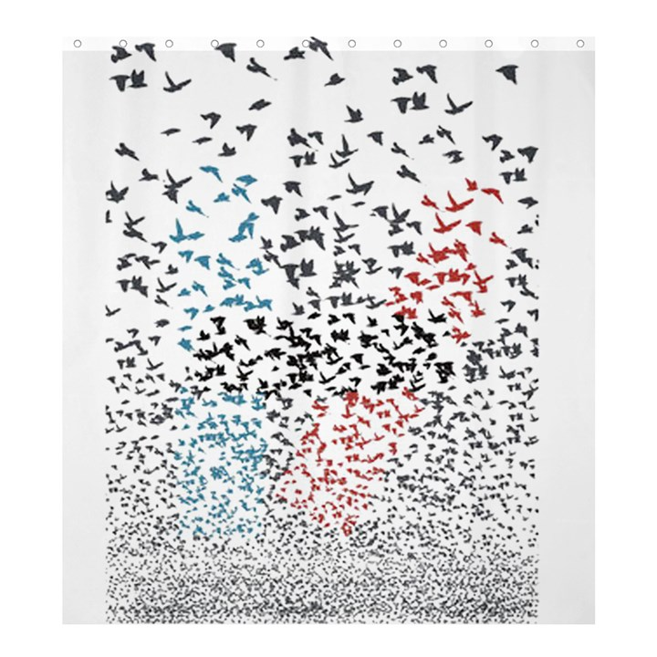 Twenty One Pilots Birds Shower Curtain 66  x 72  (Large)