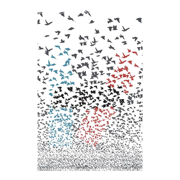 Twenty One Pilots Birds Shower Curtain 48  x 72  (Small)