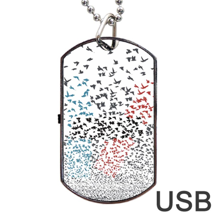 Twenty One Pilots Birds Dog Tag USB Flash (Two Sides)