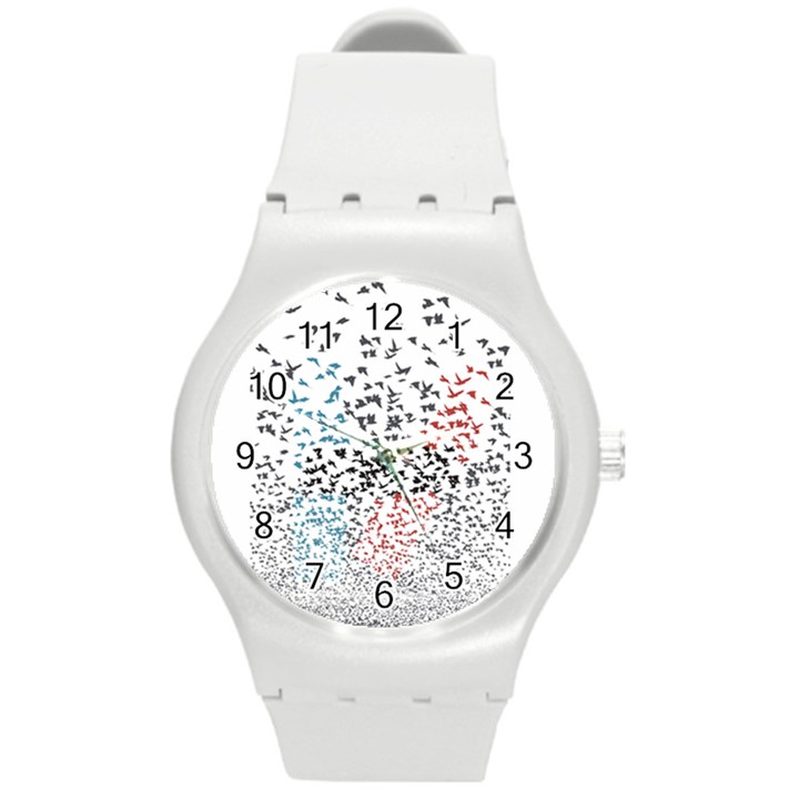 Twenty One Pilots Birds Round Plastic Sport Watch (M)
