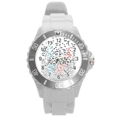 Twenty One Pilots Birds Round Plastic Sport Watch (L)