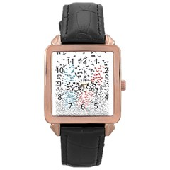 Twenty One Pilots Birds Rose Gold Leather Watch