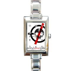 Twenty One Pilots Skull Rectangle Italian Charm Watch