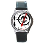 Twenty One Pilots Skull Round Metal Watch Front