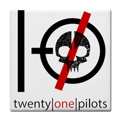 Twenty One Pilots Skull Tile Coasters