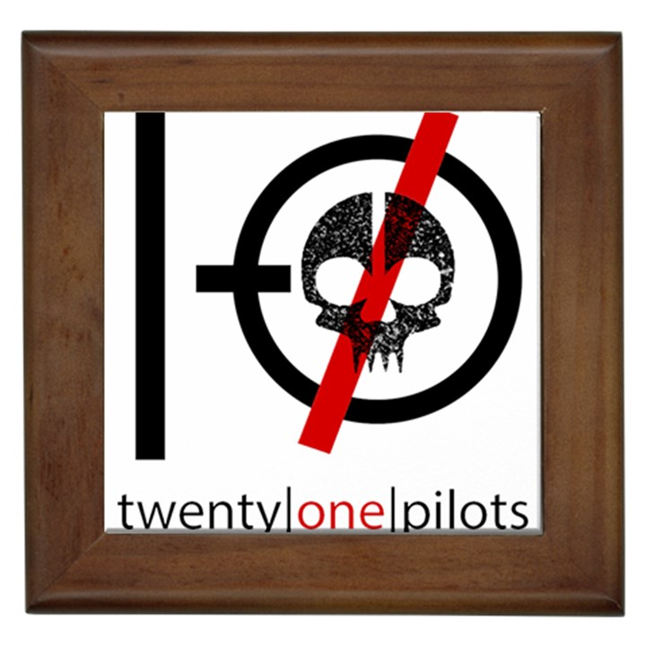 Twenty One Pilots Skull Framed Tiles