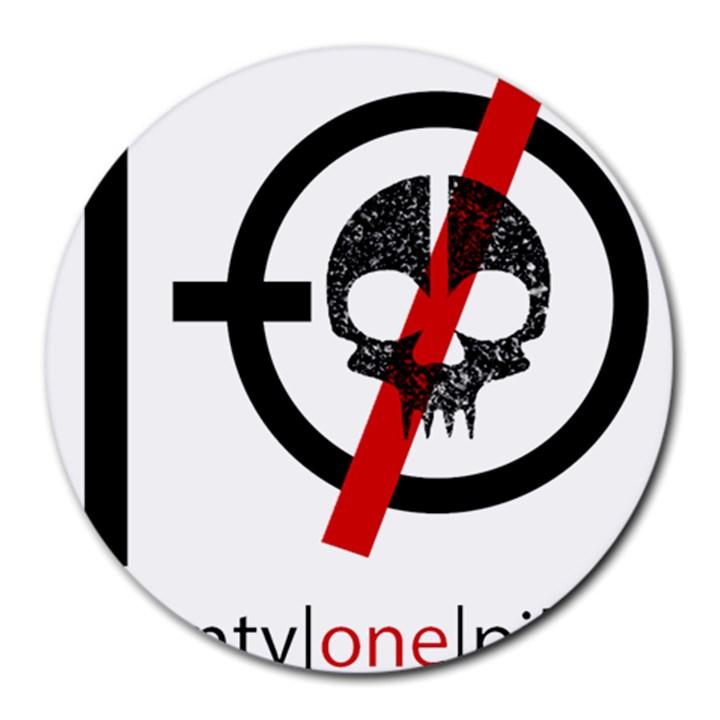 Twenty One Pilots Skull Round Mousepads