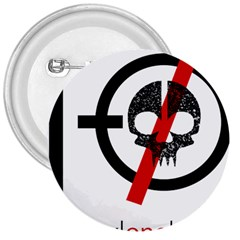 Twenty One Pilots Skull 3  Buttons