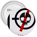 Twenty One Pilots Skull 3  Buttons Front