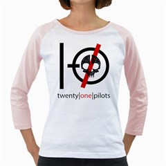 Twenty One Pilots Skull Girly Raglans