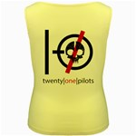 Twenty One Pilots Skull Women s Yellow Tank Top Back