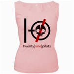Twenty One Pilots Skull Women s Pink Tank Top Front