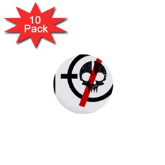 Twenty One Pilots Skull 1  Mini Buttons (10 Pack)