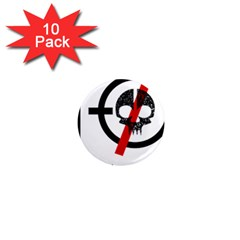 Twenty One Pilots Skull 1  Mini Magnet (10 pack)