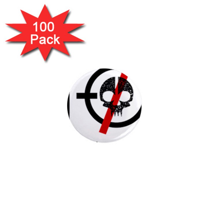 Twenty One Pilots Skull 1  Mini Magnets (100 pack)