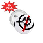 Twenty One Pilots Skull 1.75  Buttons (10 pack) Front