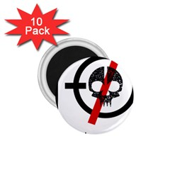 Twenty One Pilots Skull 1 75  Magnets (10 Pack)