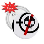 Twenty One Pilots Skull 2.25  Buttons (10 pack)  Front