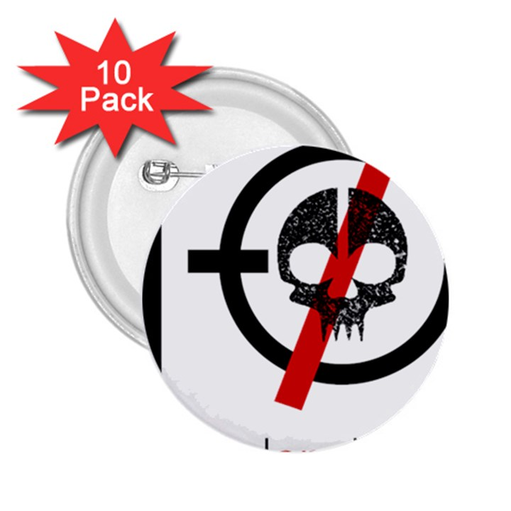 Twenty One Pilots Skull 2.25  Buttons (10 pack)