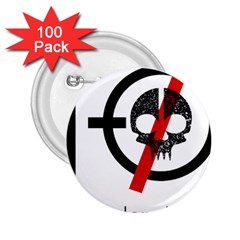 Twenty One Pilots Skull 2.25  Buttons (100 pack)