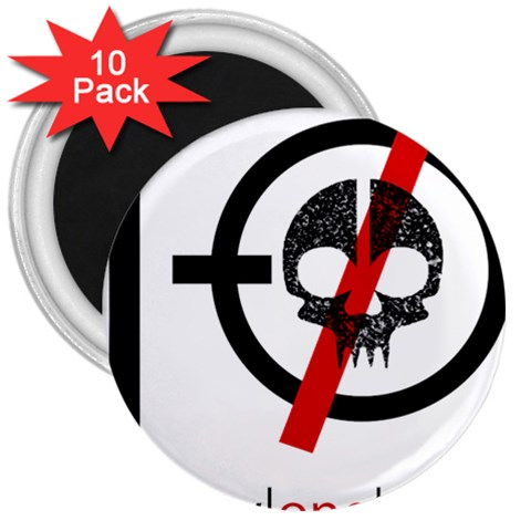 Twenty One Pilots Skull 3  Magnets (10 pack)