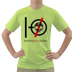Twenty One Pilots Skull Green T Shirt