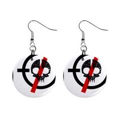 Twenty One Pilots Skull Mini Button Earrings