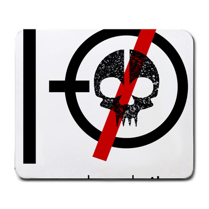 Twenty One Pilots Skull Large Mousepads