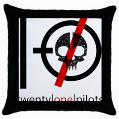 Twenty One Pilots Skull Throw Pillow Case (Black)