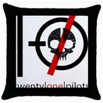 Twenty One Pilots Skull Throw Pillow Case (Black) Front